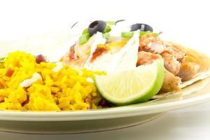 enchilada rijst foto