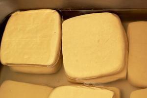 tofu pad is op de markt foto
