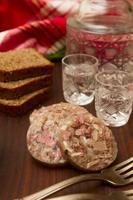 snacks en wodka foto