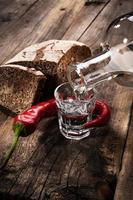 vintage wodka stilleven