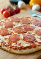 pepperoni pizza foto