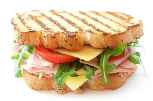 gegrilde sandwich foto