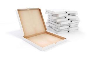 3d lege verpakkingsdoos voor pizza foto