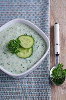 soep van komkommer foto