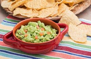 stevige zelfgemaakte guacamole foto