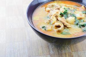 curry varkensvlees in kokosmelk