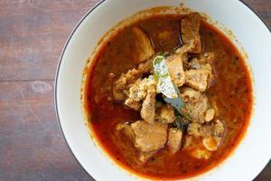 varkensvlees curry pittig foto