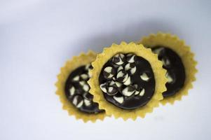 chocolade met koekjes foto