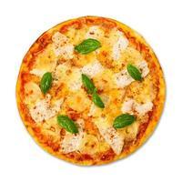 heerlijke pizza met ananas en kip foto