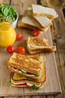 heerlijke Italiaanse sandwich foto
