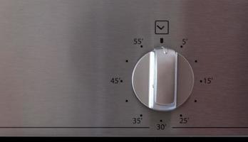 timerindicator van een moderne oven foto