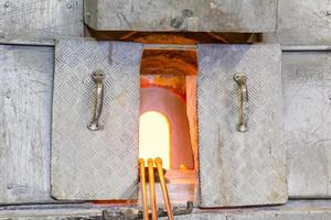 glasblazer oven foto