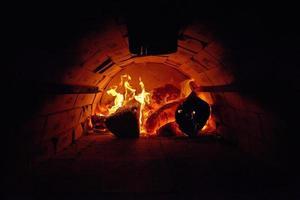 houtgestookte oven foto