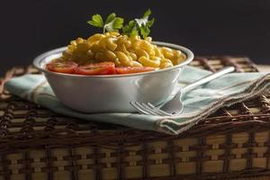 elleboog macaroni en kaas foto