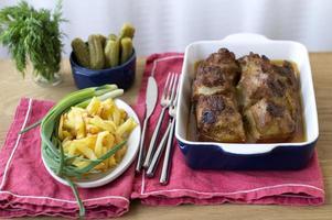gebakken varkensvlees foto