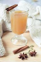 warme pittige appeldrank foto