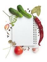 notitieboekje met recepten