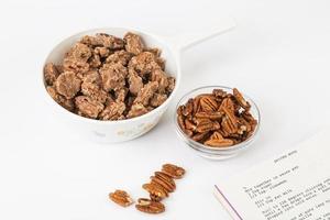 gekruide pecannoten maken met recept foto