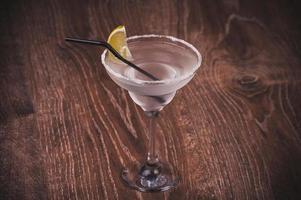 margarita cocktail in hoog glas foto