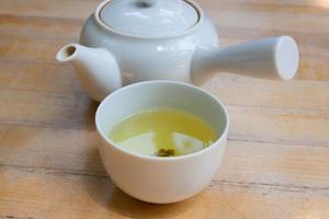 Japanse groene thee foto