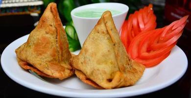 Indiase samosa's foto