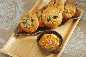 pav bhaji of pao bhaji - indisch curry eten foto