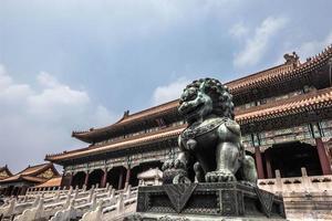 leeuw in de verboden stad, china foto