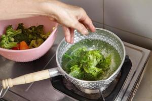 gekookte broccoli foto