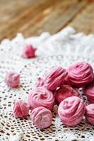marshmallows van zwarte bessen, zephyr foto