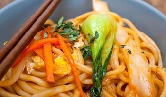 hand getrokken ramen noodles foto