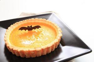 halloween eten, pompoentaart foto