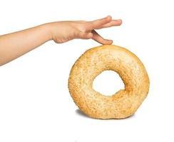 wit geïsoleerd brood foto