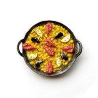 imán de nevera paella valenciana foto