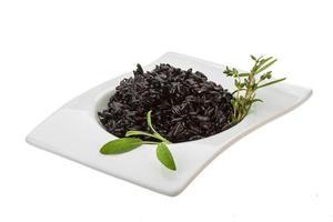 zwarte gekookte rijst