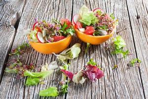 salade met grapefruit. foto