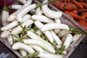 witte aubergine foto