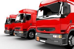 rode vrachtwagens foto