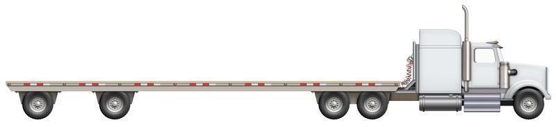 platte vrachtwagen foto