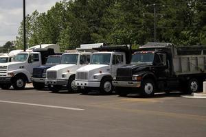 kippers vrachtwagens foto