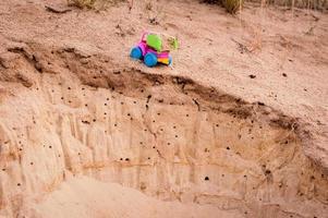 vrachtwagen in het zand