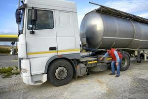 vrachtwagenchauffeur foto
