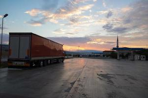 transport van vrachtwagens foto