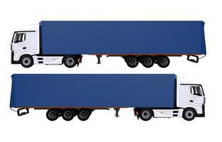 euro semi vrachtwagens geïsoleerd foto