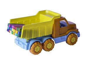 vrachtwagen met pastel