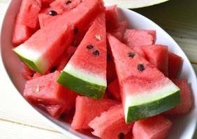 rijpe watermeloen. foto