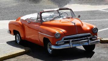 klassieke Amerikaanse auto cabriolet foto
