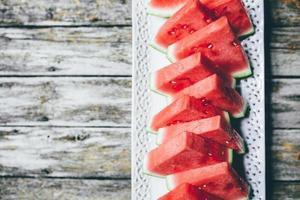 driehoek gesneden watermeloen foto