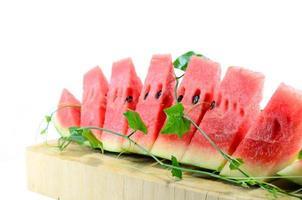 watermeloen plakjes foto