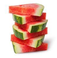 stapel stukjes rode rijpe watermeloen foto