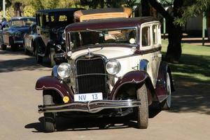 vintage jaren 1930 auto close-up bekijken foto